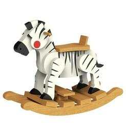 1.jpg Télécharger fichier STL gratuit Chaise à bascule Zebra • Modèle à imprimer en 3D, CrealityCloud