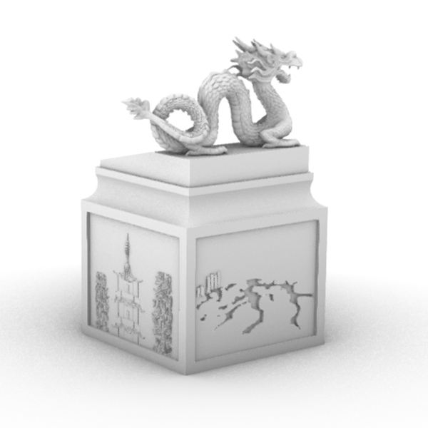 yz1.jpg Download free STL file Dragon seal(Creality Cloud exclusive) • 3D printable model, CrealityCloud
