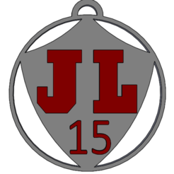JL_BOURG.PNG Download free STL file JL BOURG - Key ring • 3D print object, Design3DPrinting