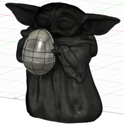 baby_yoda.PNG Download free STL file baby yoda - easter version • Template to 3D print, Design3DPrinting