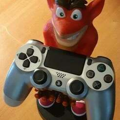 Crash_bandicoot_2.jpg Download free STL file crash bandicoot - controller and phone holder • 3D printable design, Design3DPrinting