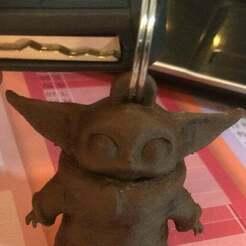 baby_yoda_.jpg Download free STL file baby yoda - keychain / baby yoda key ring • Object to 3D print, Design3DPrinting