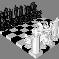 Photo 1.png Download STL file Harry Potter wizard chess pieces set • 3D printing template, kevin_petrone