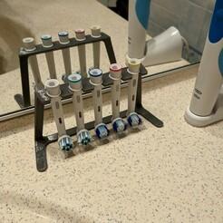 Toothbrush Holder.jpg Download free STL file Oral-B Toothbrush Holder • 3D printable template, Nekzuris