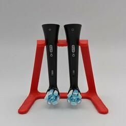 Toothbrush Holder.jpg Download free STL file Oral-B iO Toothbrush Holder • Design to 3D print, Nekzuris
