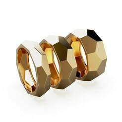 PL 4 CG.521.1.jpg Download STL file Faceted Wedding Ring 6 8 10mm • 3D print object, landysheva