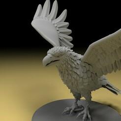 1.jpg Download STL file Eagel 3d Model • 3D print template, x12345678pal