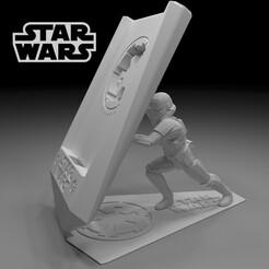 11.jpg Download STL file Phone holder Star Wars 3d Model • 3D print object, x12345678pal