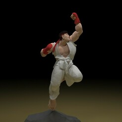 1.jpg Download STL file Ryu 3D model stl file • 3D printer template, x12345678pal