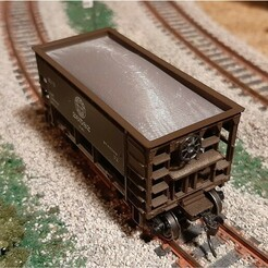 SQ 20201210_212443.jpg Download STL file HO Scale MDC Roundhouse Ore Car Removable Load Insert • 3D print design, FentressImagineering