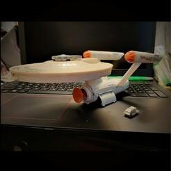 SQ 20201225_155757.jpg Télécharger fichier STL Dinky Toys USS Enterprise NCC-1701 Navette Galileo • Plan pour impression 3D, FentressImagineering