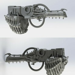 Gene-Autocannon.jpg Download free STL file GENE CORRUPTED ARMOR BEARER AUTOCANNON REPLACEMENT • 3D print object, frostdragonforge