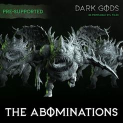 abominations-Group-DarkGods-SQ-Supported.png Télécharger fichier STL Les Abominations - Dieux des ténèbres • Design pour imprimante 3D, DarkGods
