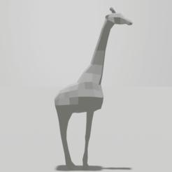 Jirafa2.png Télécharger fichier OBJ Girafe - Sculpture à faible polygone • Design pour imprimante 3D, AdelbertWagner