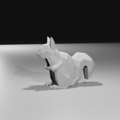 Squirrel.png Download OBJ file Low poly squirrel Sculpture • 3D printable design, AdelbertWagner