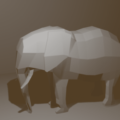 Elefant.png Download OBJ file Elephant Low Poly & Elegant • 3D printable template, AdelbertWagner
