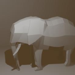 Elefant.png Télécharger fichier OBJ Eléphant Low Poly & Elégant • Plan à imprimer en 3D, AdelbertWagner