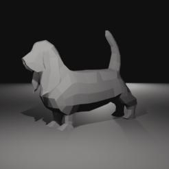 Basset Hound 1.png Download OBJ file Low Poly Basset hound Dog In fashion • Object to 3D print, AdelbertWagner
