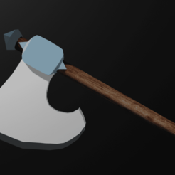 Hacha.png Download free STL file Silver axe • Object to 3D print, MRrick0930