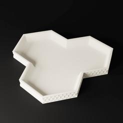 Preview3.png Télécharger fichier 3MF Plateau à clés hexagonal • Design pour impression 3D, toprototyp