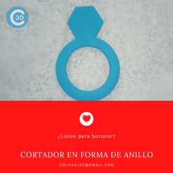 Cortador Anillo.png Download STL file VALENTINE'S DAY CUTTER - RING • 3D print template, colosal3d