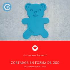 Cortador Oso.png Download STL file VALENTINE'S DAY CUTTER - BEAR • 3D printable design, colosal3d