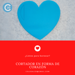 Cortador Corazon.png Download STL file VALENTINE'S DAY CUTTER - HEART • 3D printable object, colosal3d
