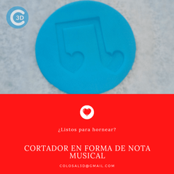 Cortador Nota.png Download STL file VALENTINE'S DAY CUTTER - MUSICAL HEART NOTE • 3D printable object, colosal3d