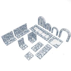 Dungeon tiles.png Download STL file Modular Dungeon Tiles • 3D printer model, modularwargaming