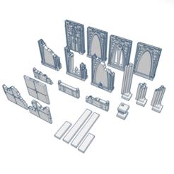GothicRuins1.png Download STL file Gothic Ruins • 3D printing design, modularwargaming