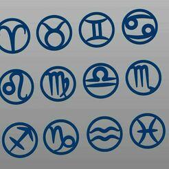 horoskop.JPG Télécharger fichier STL Signes du zodiaque • Design pour impression 3D, BaraKul