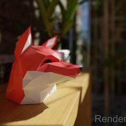 1foxxyRender.jpg Télécharger fichier STL gratuit Tête de renard - Pour les imprimantes monochromes • Plan pour imprimante 3D, nahojjjen