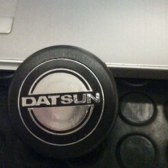 IMG-20200607-WA0023.jpeg Download OBJ file Datsun Steering Wheel Badge • 3D print model, HowlingHobbies