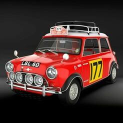 MiniMorrisCopper1.jpg Download OBJ file Mini Morris Cooper Rally Montecarlo • 3D printing object, pablof