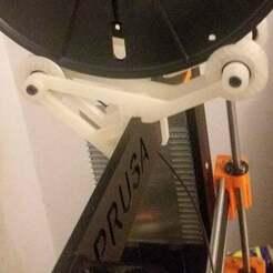 Soporte0.jpeg Télécharger fichier STL gratuit PRUSA i3 Filament Spool roller / Holder - par Taunus27 • Plan imprimable en 3D, Taunus27