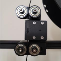 Capture5.PNG Télécharger fichier STL Support de déplacement du capteur de filament Creality CR-10 V3 avec roues de guidage • Plan imprimable en 3D, tnelson