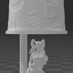 Capture.JPG Download STL file Harley queen lamp • 3D print design, borejonathan