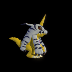 render.png Download STL file DIGIMON GABUMON figure 3d print  • 3D print template, Xiajibaty