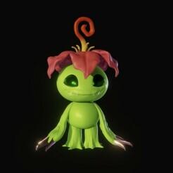 IMG_0959.jpg Télécharger fichier STL Digimon Adventure Palmon • Objet pour impression 3D, Xiajibaty
