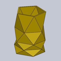 Captura23.PNG Download STL file Pentagonal pen holder • 3D printable object, maxi1974