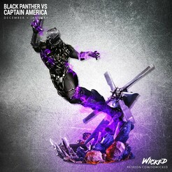 120820 Wicked - BP VS CA squared 03 (1).jpg Download STL file Black Panther • 3D printer template, Wicked3D