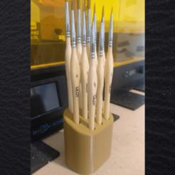 01.png Download STL file WILOT Brush holder / paintbrush holder • 3D printer design, 3DSO-Boutique