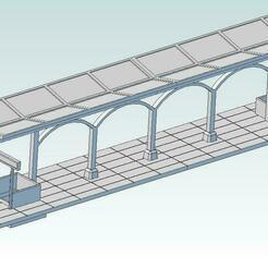 Railraod_platform_44mm.jpg Télécharger fichier STL Maquette de plate-forme ferroviaire à l'échelle HO 1:87 • Plan pour imprimante 3D, juergenw22