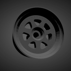 Mugen M7.png Download STL file Mugen M7 rims with brakes and tires for Hot Wheels • 3D printing design, rob3rto