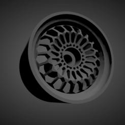 Mtechnica Turbo Rallye.png Download STL file Mtechnica Turbo Rallye rims with brakes and tires for Hot Wheels • 3D printable design, rob3rto