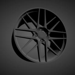 BBS CS-4.png Download STL file BBS CS-4 SCALABLE AND PRINTABLE RIMS • 3D printable design, rob3rto