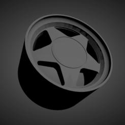 Corvette C4 Callaway.png Download STL file Corvette C4 Callaway SCALABLE AND PRINTABLE RIMS • 3D print object, rob3rto