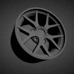 BBS FI-R.png Download STL file BBS FI-R SCALABLE AND PRINTABLE RIMS • 3D printer template, rob3rto
