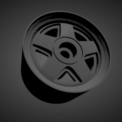 Ronal R5.png Download STL file Ronal R5 WITH BRAKES AND TIRES FOR HOT WHEELS • Object to 3D print, rob3rto
