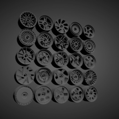 Rotiform Collezione.png Download STL file ROTIFORM RIMS COLLECTION WITH BRAKES AND TIRES FOR HOT WHEELS • 3D printing object, rob3rto
